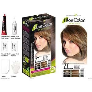 Kit coloration Integral Color à l'aloe vera n°7.31 - tabac clair