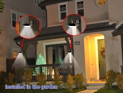 Plafoniera Esterno Sensore Movimento : Anself 16 led yard parete della casa luce solare di sicurezza