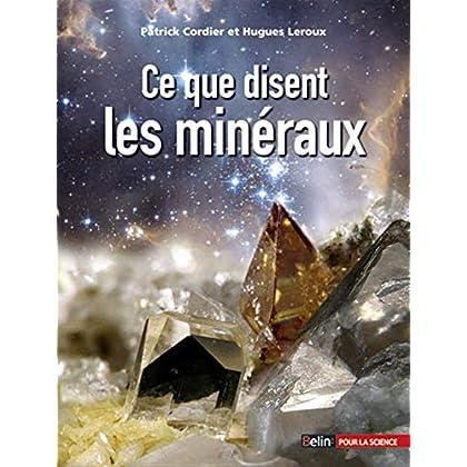 Ce que disent les minéraux