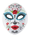 P'TIT CLOWN - 22404 - Masque Adulte Tissu - Day Of The Dead - Femme - Taille Unique