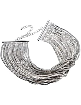 Jerollin Damen Kette Choker Halskette Halsreif Collier Halsband