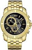 JBW Warren Reloj DE Hombre Diamante Cuarzo 48MM DIAL Negro J6331A