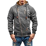 SuperSU Kapuzenpullover Hoodie Sweater Pullover Mode Sweatshirt Herren Lange  Ärmel Kapuzenpulli Tops Jacke Taschen Mantel Schrägem 2f2e039622