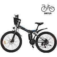 BIKFUN Faltbares Elektrofahrrad, 26 Zoll E-Bike, 36V 8Ah Lithium-Akku, 250W Motor, 21 Gang, 20 Meilen Pedelec