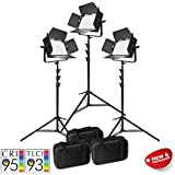 PIXAPRO® VNIX1000S Three Head Kit LED Panel Video Lighting Panel Kit 5600K Dimmable DMX Control Interview YouTube Video High CRI >95% *2 Year UK Warranty *Fast Delivery *UK Stock *VAT Registered
