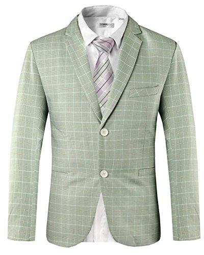Hanayome -  Giacca da abito  - Parka - Classico  - Maniche lunghe  - 100 DEN - Uomo Green