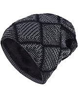 iShine berretti uomo Cappello di lana degli uomini d'autunno ed inverno più il cappello a maglia di velluto