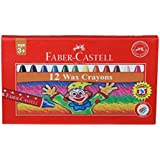 Faber-Castell Wax Crayon Set - 57mm, Pack of 12 (Assorted)
