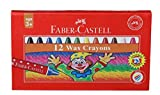 #10: Faber-Castell Wax Crayon Set - 57mm, Pack of 12 (Assorted)