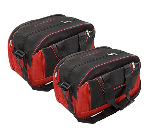 2 Pack Storite Duffel Bag for Travel Luggage Storage with Adjustable Strap (18x9x16 inch)