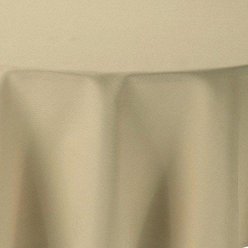 amp-artshop Tischdecke Leinen Optik Rund 160 cm Beige Sand Natur- Farbe, Form & Größe wählbar mit Lotus Effekt - (R160Beige)