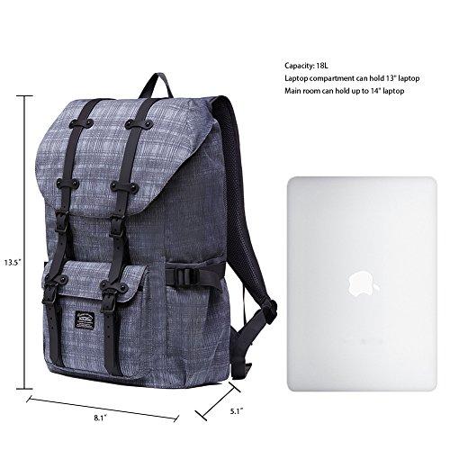 8f59bdc1f7 Rucksack Damen Handgepäckrucksack Herren KAUKKO Backpack Schulrucksack  KAUKKO 17 Zoll Laptop Rucksack für 15