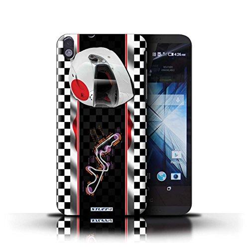 Kobalt® Imprimé Etui / Coque pour HTC Desire 816 / Malaisie conception / Série F1 Piste Drapeau Japon/Suzuka