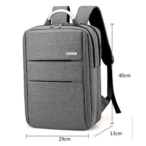 Unisex Borsa Da Viaggio Per Laptop Zaini Per Laptop Casual Durevole Di Alta Qualità Classica E Resistente. Multicolor Grigio