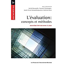 L'évaluation: concepts et méthodes: Deuxième édition