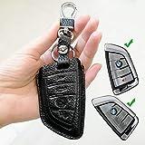 Borsa Smart Remote Fob Key case bag Key Chain Fit per BMW serie 1257m 2New X5x 6X1x 4auto telecomando cover (nero) Nero