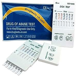 5 x Drogenschnelltest 7 Multi-Drogentest - Kokain/Cannabinoide/Methampetamin/Opiates/Amphetamine/Methadone/Benzodiazepine- Bestimmung von 7 Drogenarten mit einem Test