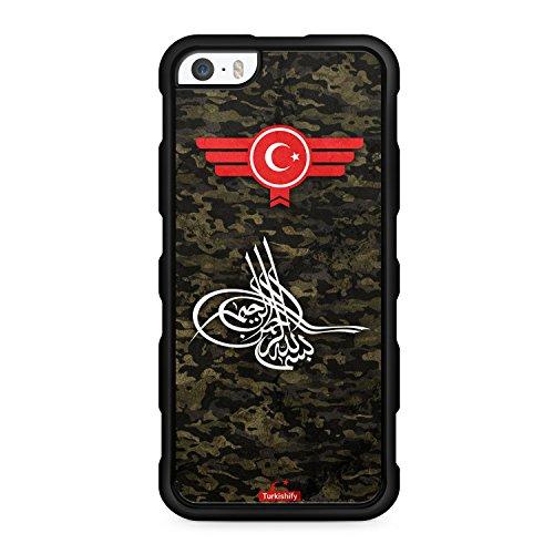 """Preisvergleich Produktbild iPhone 5 & 5S Silikon TPU Cover Case Hülle - Türkiye Türkei Camouflage """"Osmanli Tugra"""" - Handyhülle Schale Schutzhülle Türk Turkish Turquie Türkce Turkey Türkisch"""