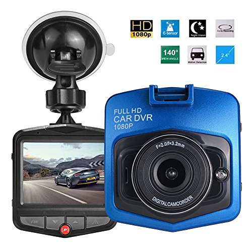 Kasit 1080P Dash Cam Autokamera 1080P FHD drive Recorder mit HDMI-Schnittstelle-Blau mit 32G SD