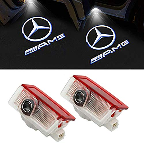 LIKECAR 2 Stück Autotür Logo Türbeleuchtung Projektion Licht Einstiegsbeleuchtung Projektor (E-AMG)