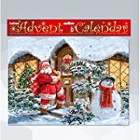 Santa at the Door Advent Calendar with Glitter