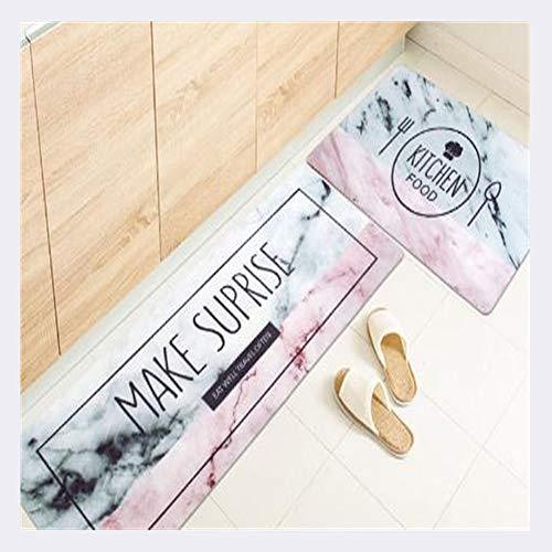 ANXIN Haushalt Küche Streifen Teppich, Rutschfest Öldicht Wasserdicht Handwäsche,C,45 * 75CM