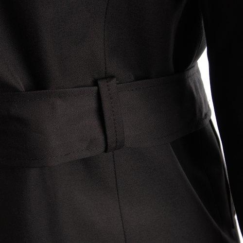 FLATSEVEN Slim Fit Designer Manteau Trench Casual Homme Noir