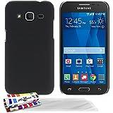 Muzzano F2655506 - Funda para Samsung Galaxy Core Prime / SM-G360BT + 3 protecciones de pantalla, color negro