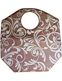 """Pursfection Multi-Purpose Extra Large Collapsible Travel, Beach, Shopping Tote Bag 22""""x 21""""x 12""""Taupe Floral"""