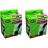 2 x Slime Bike Inner Tubes 27.5 x 1.90-2.125 650B Mountain Bikes Presta Valves - Slime Filled To Instantly Seal And Repair Pu