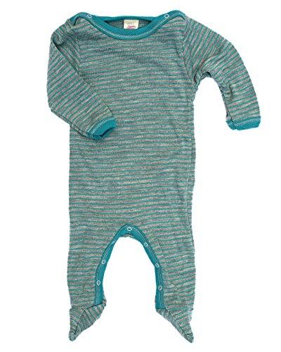 Engel Baby-Schlafoverall, hellgrau melange/eisvogel, Gr. 74/80