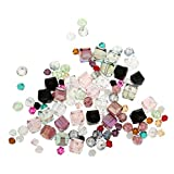 #5: Generic 100 Pcs Assorted Crystal Diy Charms Hair Bow Beads