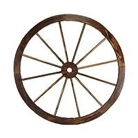 """TreasureGurus, LLC Large 32"""" Wood Wagon Wheel Outdoor Rustic Yard or Garden Decor"""