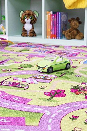 Straßenteppich/Spielteppich Sugar Town, Pink, Rosa, GUT/Prodis geprüft, weich, Größe:100x165cm - 3
