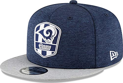 New Era NFL Los Angeles Rams Authentic 2018 Sideline 9FIFTY Snapback Road Cap, Größe :S/M