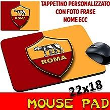 Tappetino mouse Pad Personalizzato Squadre Calcio Magica Roma Giallorossi Stemma Logo foto