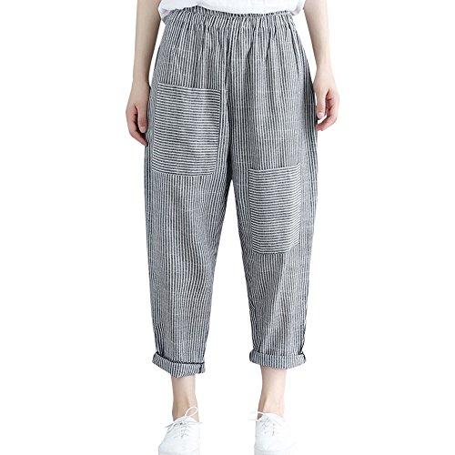 Jogging Damen Chino Jeans Slim Skinny Loose Sport Hosen Yoga Designer Boyfriend Jersey Jazz Relaxed Bein Pluderhosen, Lässige Harem elastische Taille knöchellangen (3XL,Schwarz 2) Jersey Harem Pant