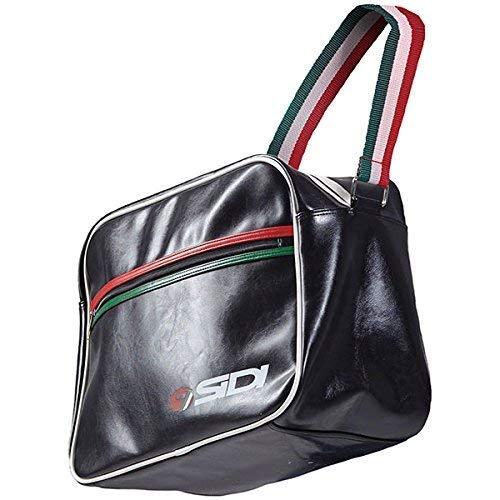 Offizielles Sidi Casuals Luxe Flight Courier Umhängetasche Italienische Flagge-schwarz (Luxe Handtaschen)