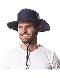 Hongtellor Sombrero de Verano para Hombre y Mujer de ala Ancha  Plegable b4177ddb3d6