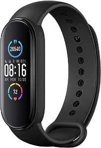 "Mi Band 5 Smart Band, Smart Watch con Activity Tracker Display AMOLED a Colori da 1,1"" Bluetooth 5.0 Cardiofrequenzimetro Bracciale Intelligente Impermeabile"