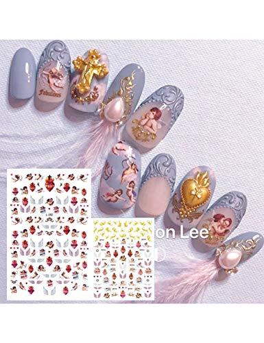 ZJWLL Latest 3D Nail Art Sticker Nail L-192 Angel Series Nail Art Sticker Decal Tool Strumento Fai da Te CA