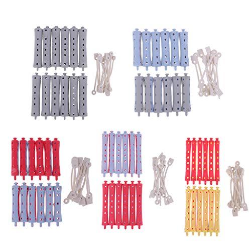 Perm Stäbe (IPOTCH 60 Stücke Haarwickler Dauerwellwickler Lockenwickler Set für gelockte gewellte Haare)