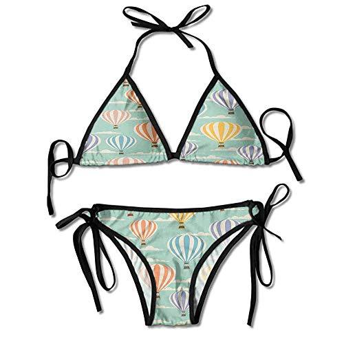 Removable Strap Wrap Bikini,Texture Cloud Blue Sky Sexy Bikini 2 Pieces - Blue Sky Swimwear Wrap