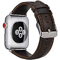 Armband für Apple Watch Series 3 Series 2 Series 1, MroTech iWatch Apple Watch Armband Edelstahl Leder Ersatzarmband Uhrenarmband für Apple Watch Sport Edition Nike+ alle Versionen