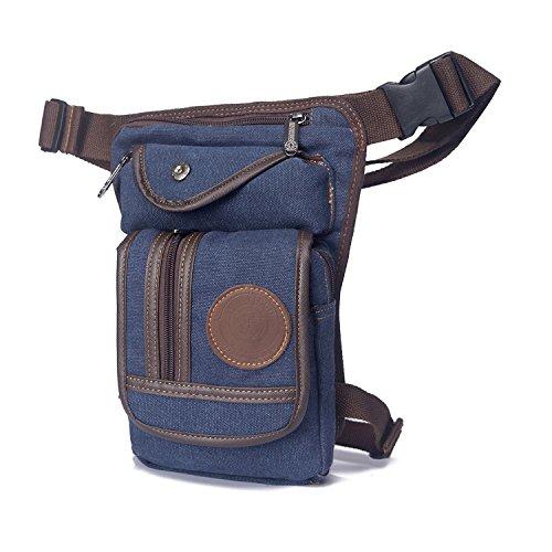 Outreo Gürteltasche Vintage Hüfttaschen Herren Tasche Sporttasche Outdoor Bauchtasche Sport Bag Geldbeutel Kleine Reisetaschen Trinkgürtel Canvas