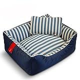 Sistemazioni per dormire Pets Lettino Letto per Cani Piccoli Gatti Peluche Ultra-Morbido Rettangolare Lavabile in Lavatrice/S/M/L/XL (Color : A Blue, Size : M)