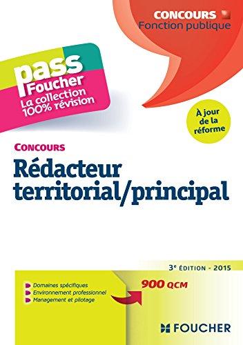 Pass'Foucher - Concours Rdacteur territorial / principal 3e dition - 2015 -  jour de la rforme