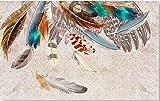 CHAFQZQ Mural Photo Personnalisée Papier Peint pour Le Salon Chambre_400*280Cm Texture De Plumes Colorées De Style Américain Vintage Peinture Murale