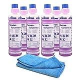 6x 1,0 L Flaschen Kiehl Torvan-Konzentrat - Aktivreiniger für Boden und Oberflächenreiniger | inkl. hochwertigem Profi-Microfasertuch Blau