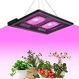 Oeegoo Pflanzenlampe 100W LED pflanzenlicht vollspektrum Pflanzenwachstum IP65 Wasserdicht Pflanzenleuchte für Garten Gewächshaus Zimmerpflanzen, Blüte, Blumen und Gemüse